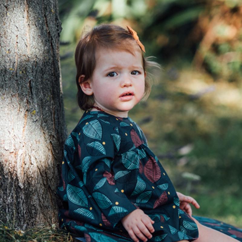 robe bébé imprimé coton bio