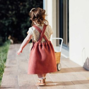 robe enfant nid d'abeille