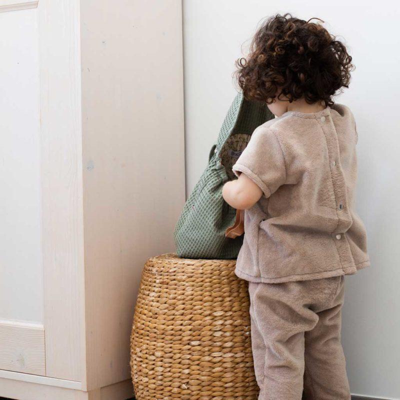 Pantalon enfant micro éponge beige