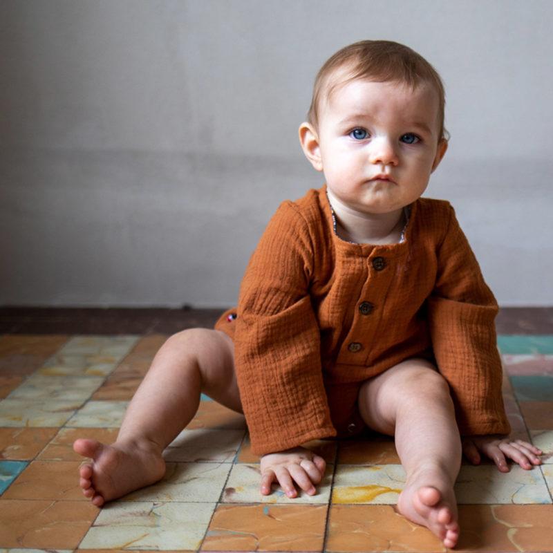 barboteuse bébé double gaze