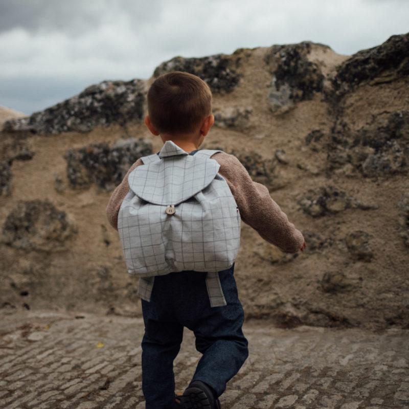 sac à dos enfant carreaux