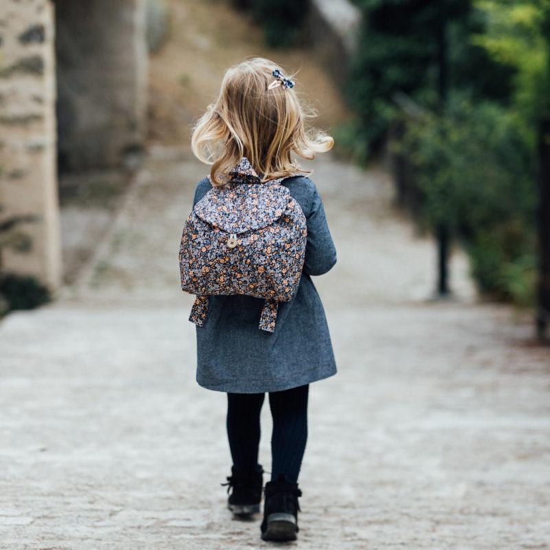 sac à dos enfant fleuri