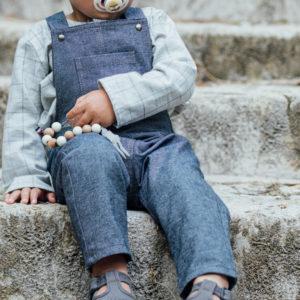 salopette bébé en jeans